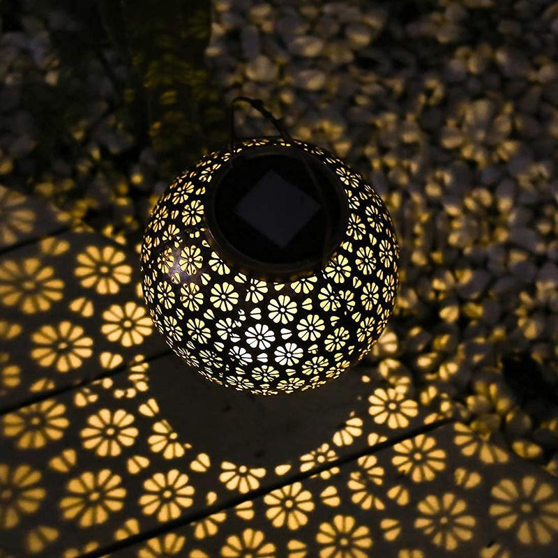 Retro Daisy - Solar Tafellamp - Brons