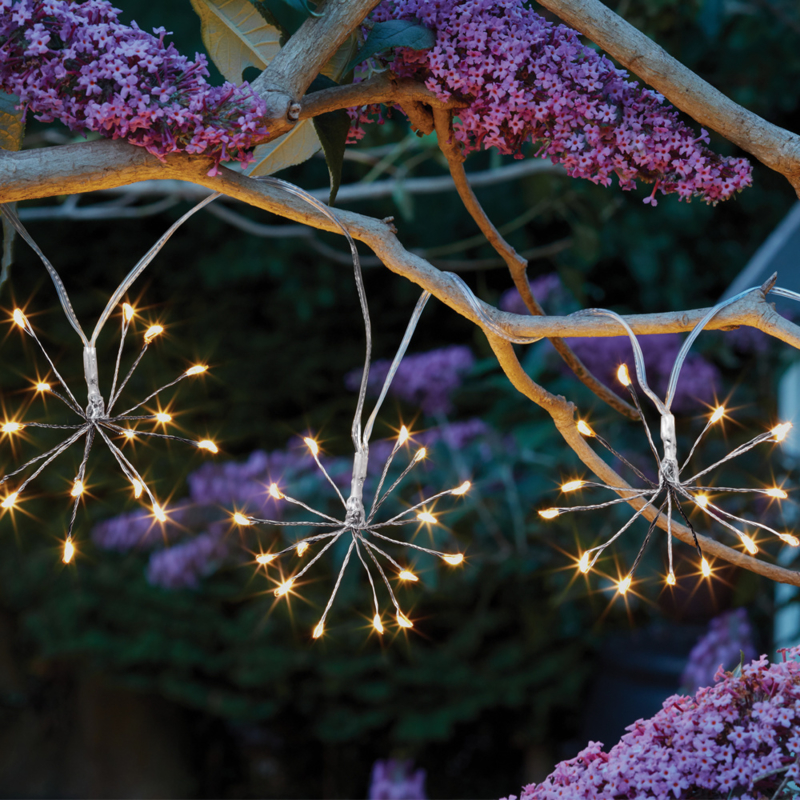 Starburst - 10 Hanglampjes - Solar
