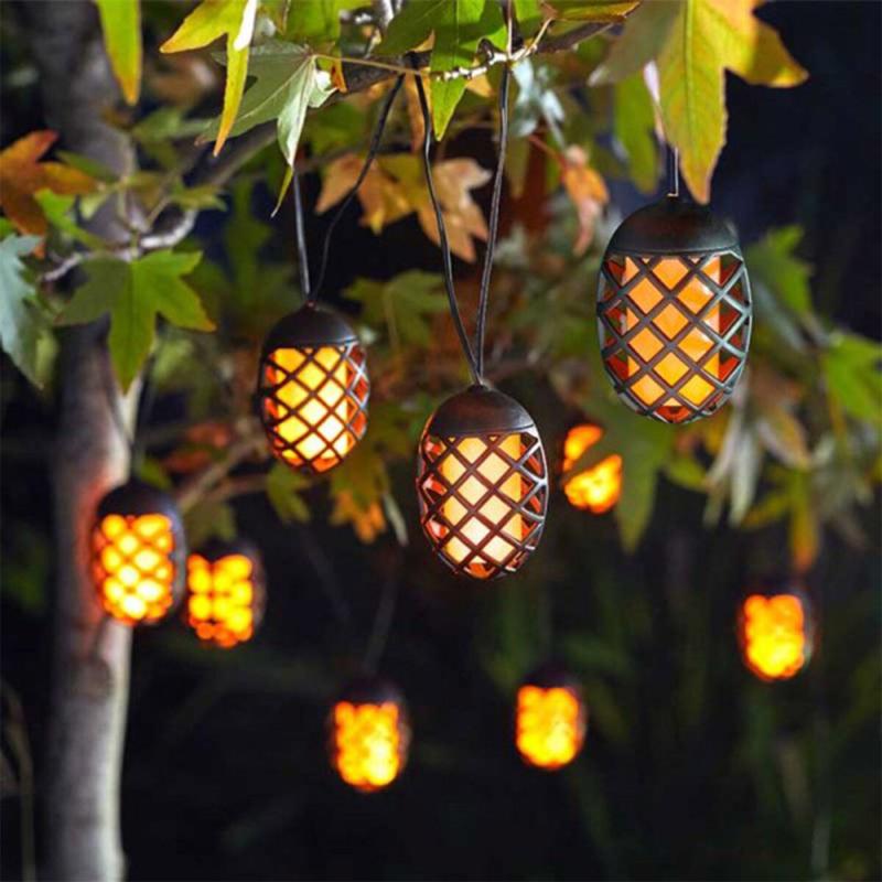 Cool Flame - 10 Hanglampjes - Solar Lichtsnoer