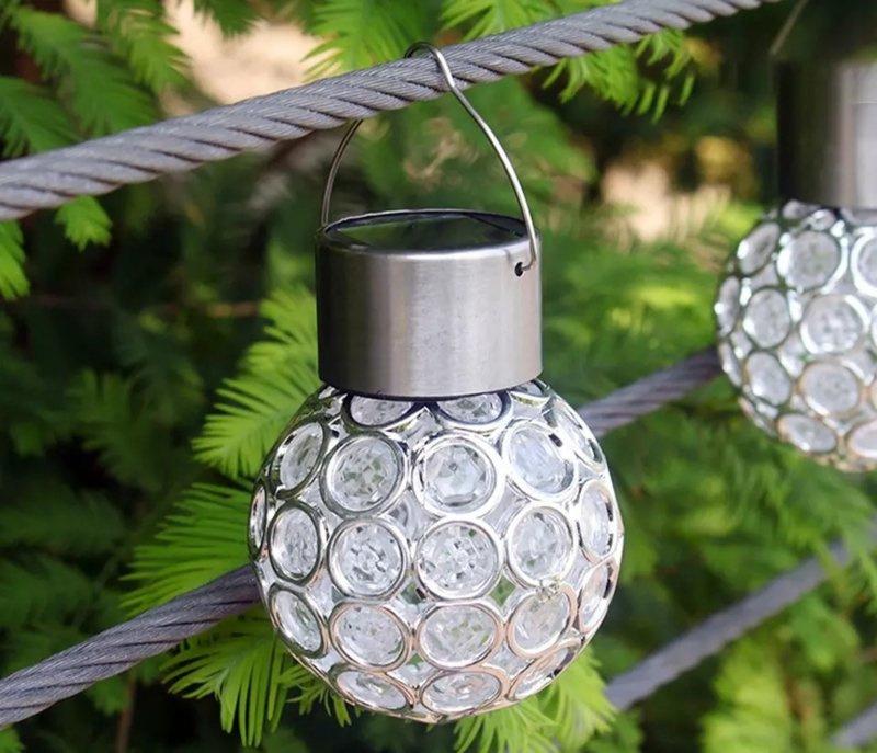 Crystal ball - Wit licht - Set van 3