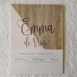 Geboortebord Emma