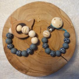 Geschenkset Luipaard Blauw