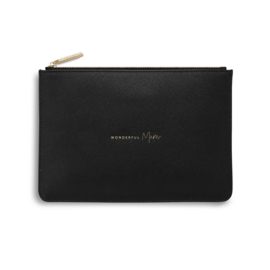 Perfect Pouch Black - Wonderful Mum