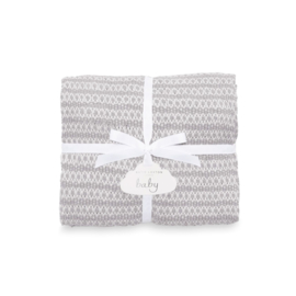 Cotton Knitted Baby Blanket - Grey