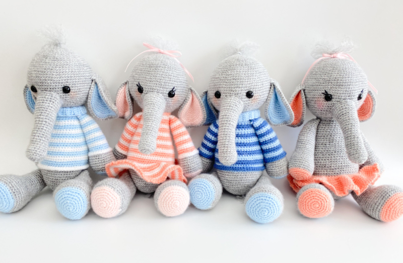 Olifantje - Streep Baby Blauw