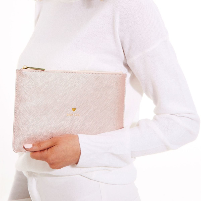 Perfect Pouch | Baby Girl Metallic Pink