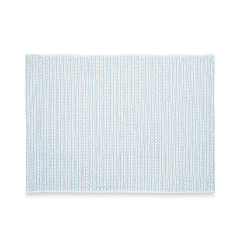 Cotton Knitted Baby Blanket - Blue