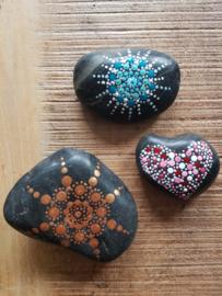 Set van 3 gestipte pebblestones