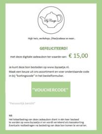 By Caatje digitale cadeaubon 15 euro