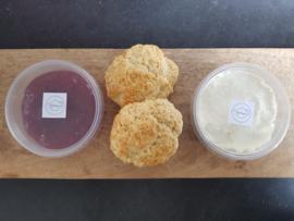 Set home made scones (2 stuks) - als aanvulling op een high tea box