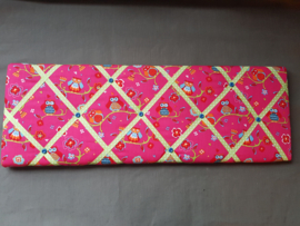 Wandbord uiltjes roze