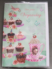 Felicitatiekaart High tea voor jouw verjaardag