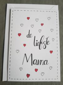 Kaart De liefste mama