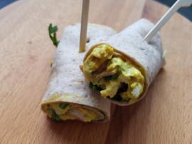 Set mini-wraps kip/kerriesalade en rucola (2 stuks) - als aanvulling op een high tea box