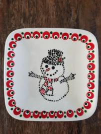 Gestipte theetip sneeuwpop Kerst