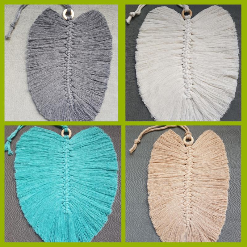 Macrame veer in diverse kleuren leverbaar