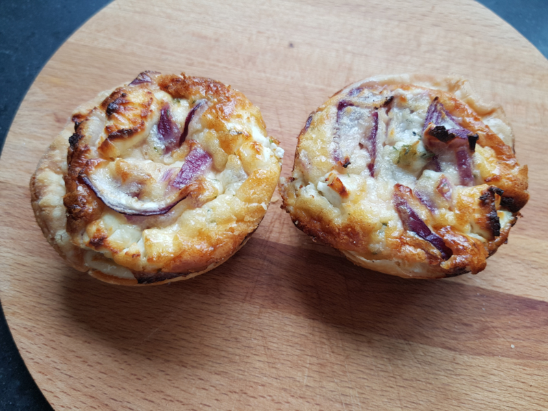 Home made mini-quiche geitenkaas (1 stuk)
