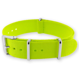 Fluo Yellow NATO G10 Military Nylon Strap 20 mm - Polished