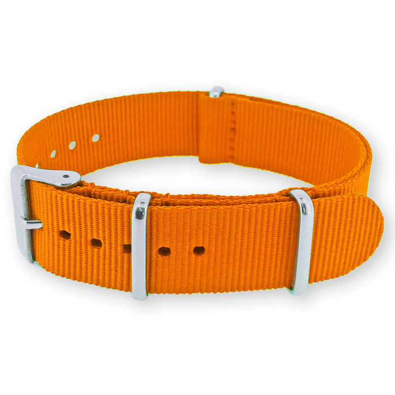 Orange NATO G10 Military Nylon Strap 18 mm - Polished