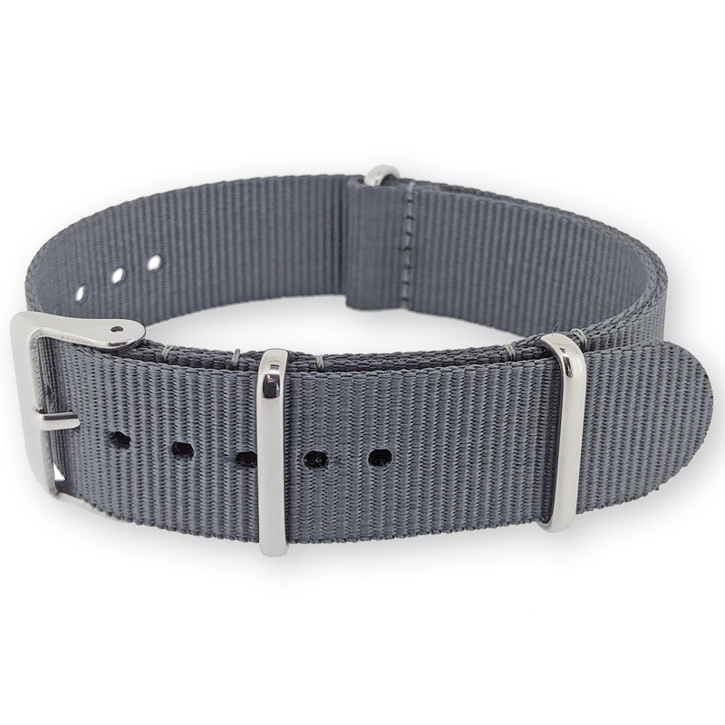 Gray NATO G10 Military Nylon Strap 22 mm - Polished