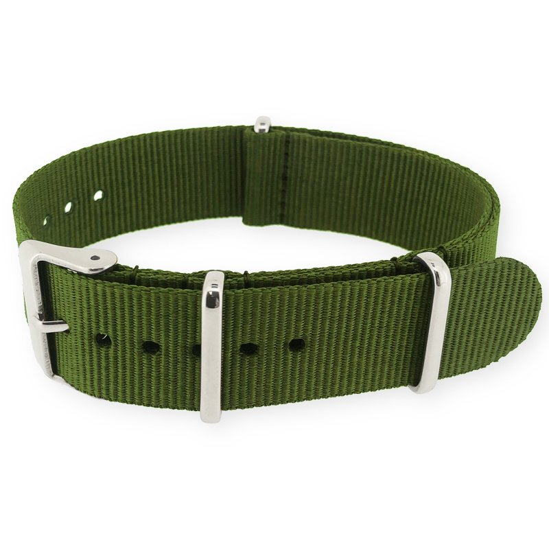 Army Green NATO G10 Military Nylon Strap 16 mm - Polished