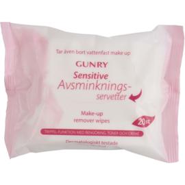 Gunry - Make-up reinigingsdoekjes - Sensitive