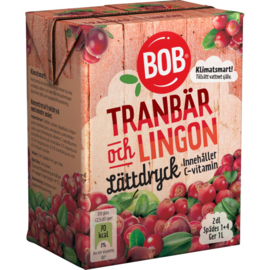 BOB - Limonade siroop  - Tranbär & Lingon