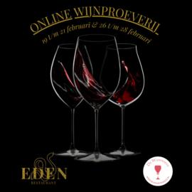 Wijn & Spijs  proeverij i.s.m. Restaurant Eden