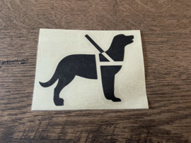 Sticker Guide dog 8 x 6 cm