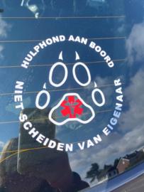 Hulphond emergency sticker