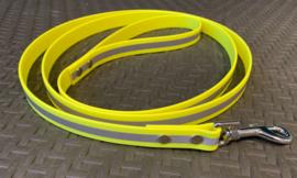 PVC hondenlijn geel reflectie 20mm
