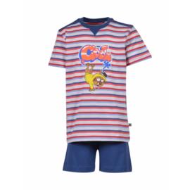 Woody Jongens-Heren pyjama rood-blauw 201-1-PUS-S/914