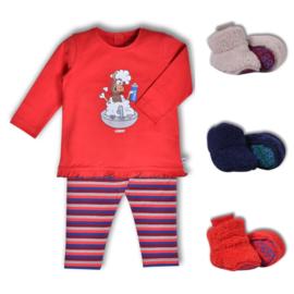 Woody meisjes baby alpaca lavabo rood 192-3-PLG-S/452