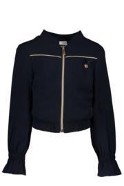 Indoor jacket with ruffle