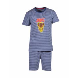Woody Jongens-Heren pyjama marineblauw-wit 201-1-PZA-Z/908