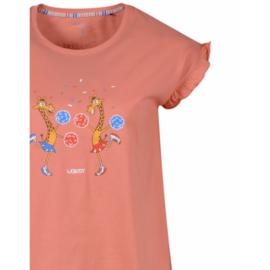 Woody Meisjes-Dames pyjama koraal 201-1-PSG-S/417
