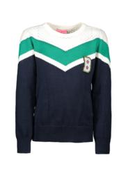 trui met open wit stuk bovenaan B-nosy: Y909-5332-109