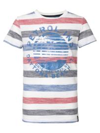 Striped T-shirt petrol