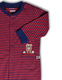 Woody unisex onesie alpaca gestreept 192-3-OZA-Z/943