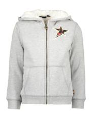 Sweater gilet grijs met ster F908-6305-720