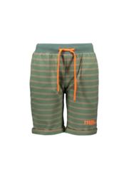 Short groen met streep