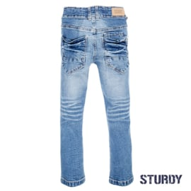Bleached denim power stretched slim fit- Sturdy