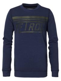 Petrol sweater blauw B-3090-SWR311