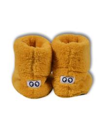 Woody pantoffels oker met ogen 192-3-BOO-M/655