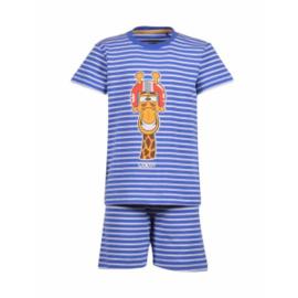 Woody Jongens-Heren pyjama koningsblauw-wit 201-1-PZA-Z/981