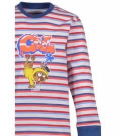 Woody Jongens-Heren pyjama rood-blauw 201-1-PLC-S/914
