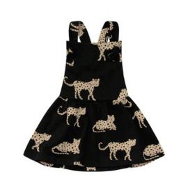 Wild cheetahs dungaree dress