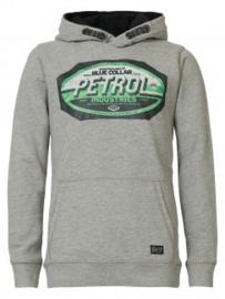 Petrol sweater met kap B-3090-SWH305