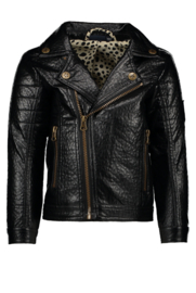 Imitatieleder biker jacket- Flo meisjes