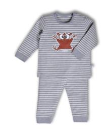 Woody unisex pyjama gestreept spookdier 192-3-PZL-Z/973